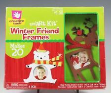 Creative Hands Sm'Art Kit Winter Friend Foam Frames Bear Reindeer Holiday