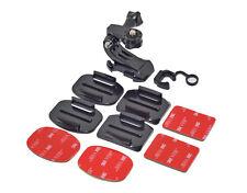 Casque Kit de montage courbé ou surface plate pour Caméra d'action caméras numériques GoPro