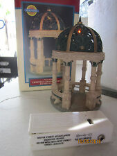 "TRAIN GARDEN HOUSE VILLAGE "" The LED LIGHTED GRAND GAZEBO ""  +DEPT 56/LEMAX info"