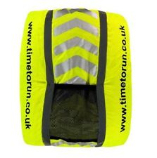 NEW Time to Run Hi Viz Reflective Waterproof Rucksack Backpack Cover Free P&P
