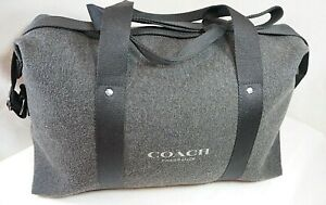 COACH Duffel Bag Travel Gym Weekender Gray with Strap Fragrance Promotion EUC