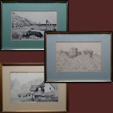 Small (up to 12in.) Realism Landscape Art Drawings