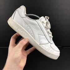 Diadora Borg Trainers UK Size 8 White Leather