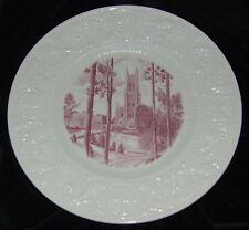 Wedgwood Duke University red Vista Chapel Dinner Plate