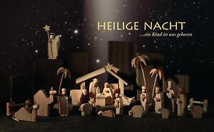 Weihnachtskrippe & Hintergrund Günter Reichel Krippe Christi Geburt Erzgebirge