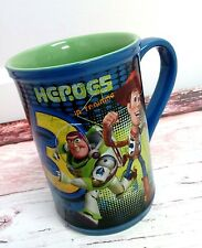 Disney Store Pixar Heroes In Training Toy Story 3 Woody Buzz Ceramic Mug