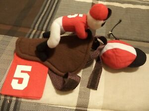 DOG HALLOWEEN COSTUME JOCKEY RIDING WITH SADDLE SMALL