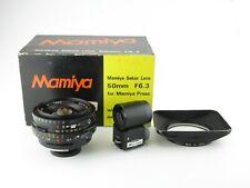 Für Press Mamiya-Sekor 1:6,3 f=50mm Objektiv lens + hood in Box OVP