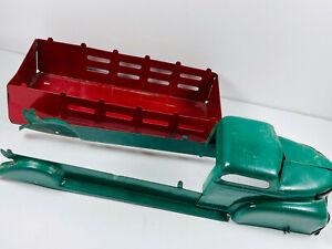 "Vintage 18"" Wyandotte or Marx Press Steel Farm Stake Toy Truck"