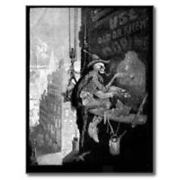 """The Skeleton Man...Artist"" {Postcard} ---(V-5)"