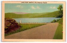 Mid-1900s Lake Fort Smith in the Arkansas Ozarks Postcard