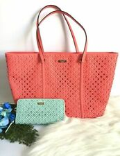 KATE SPADE NEW YORK | NEWBURY PERFORATED PINK LEATHER LARGE TOTE
