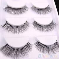 5 Pairs Natural Cross Eye Lashes Extension Makeup Long False Eyelashes Bluelans