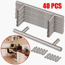 40pcs/set Kitchen Cabinet Door Knob T Bar Cupboard Drawer Bookcase Handle Pulls