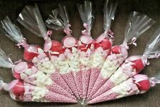 10 Girls Pink Pre filled Kids Childrens Sweet cones / party Bag / Favours