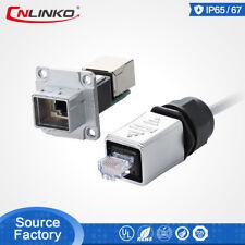 Rj45 Ethernet Signal Plug&Socket Waterproof Connector For LED Light Display