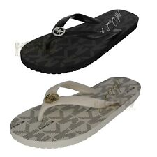 MICHAEL KORS WOMEN SIGNATURE FLIP FLOPS/ SLIPPERS NEW