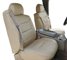 CHEVY SILVERADO 2003-2006 BEIGE S.LEATHER CUSTOM MADE FRONT SEAT & 2ARM COVERS