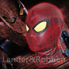The Amazing Spider Man 1 Red Masks Cosplay Halloween Party Hood Full Face Mask