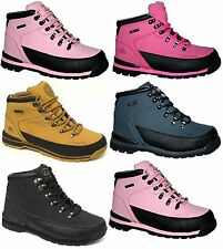 LADIES WOMENS WORK GROUNDWORK SAFETY TRAINERS STEEL TOE CAPS LEATHER BOOTS SZ