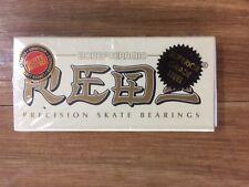 Bones Ceramic Reds Skateboard Bearings - White
