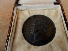 1843 médaillon commémorant Brunel Le tunnel sous la Tamise Tin Cast 50 mm