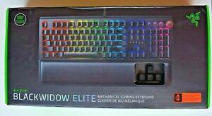 Razer BlackWidow Elite Wired Mechanical Keyboard Orange Switches Clicky NEW