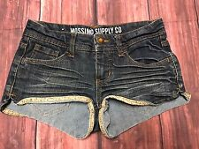 Mossimo Medium Wash Shortie Booty Fit 6 Shorts Size 3