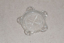 "Vintage Clear Glass Ashtray Cigarette Holder Round 4""  - Nice"