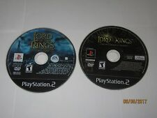 Playstation 2 - PS2 - Lot Of 2 Lord Of The Rings Games - Disc Only
