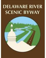 """4"""" DELAWARE RIVER SCENIC BYWAY STICKER DECAL"""