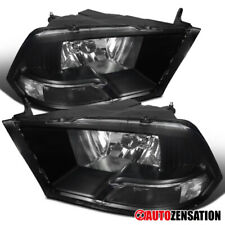 2009-2018 Dodge Ram 1500 Black Clear Headlights Head Lamps Pair Left+Right