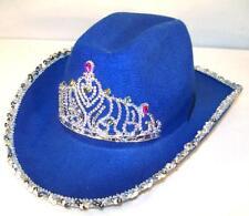 1 NEW GIRLS WESTERN DARK BLUE COWBOY HAT WITH CROWN tirra hats womens cap HT149
