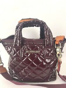 MZ Wallace Nylon Small  Laquer Port Quilted Sutton Tote Bag $225.00 #709SW