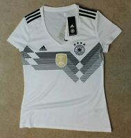 Adidas Team Germany National Team Soccer Jersey White Large NWT