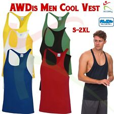 f861a4a69e762 AWDis Cool Muscle Vest Gym Fit Thin Shoulder Straps Straight Front  Polyester TOP