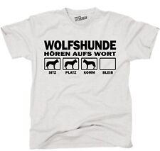 T-Shirt WOLFSHUND HÖREN AUFS WORT by Siviwonder Unisex