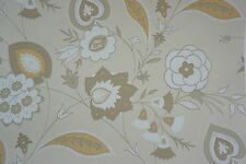 Cole & Son Wallpaper The Waldorf Collection Paisley Flower Neutrals Soft Tones