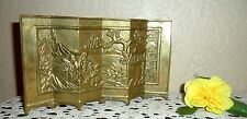 BEAUTIFUL VINTAGE HEAVY BRASS ASIAN ORIENTAL SCREEN BACK DROP JAPANESE CHINESE
