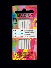 Pony Beading Needles #07883 x 6 Coloured Eye Size 10.11.12. x 2 Design-Surgery®