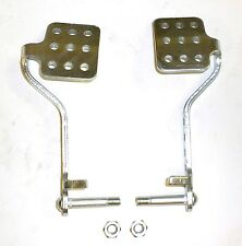 Go Kart Brake & Throttle Pedal Set With Lock Nuts