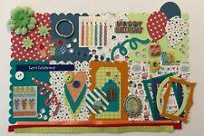 Happy Birthday Boy ITTY BITTY Chipboard Mini Book Album Kit (Scrapbook)