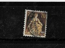 SWITZERLAND SWISS SC #141 1908 70c HELVETIA POSTALLY USED SINGLE STAMP