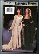 Butterick 3552 Renaissance Gothic Dress Gown Historic Pattern Uncut Sz. 6 8 10