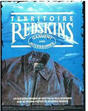 PUBLICITE ADVERTISING 1992    REDSKINS   TERRITOIRE  BLOUSONS