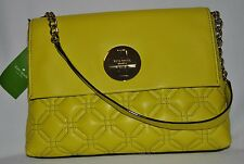 NEW Kate Spade Autumn Astor Court Acidyellow WKRU1571 Shoulder Bag $348