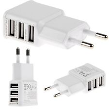 3port EU USB Pared Cargador Wall AC Charger Adaptador PR Samsung S5 S4 S3 ACE LG