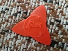 Gibson Guitars Vintage Tri-Pick 3 Sided Guitar Pick 1970s ORANGE Case Candy