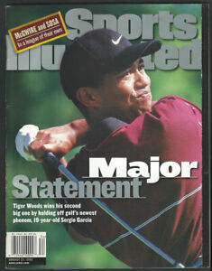 TIGER WOODS August 23, 1999 Sports Illustrated NEWSSTAND Issue