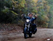 Norman Reedus Autographed Walking Dead 16x20 Motorcycle Photo *L- JSA Auth